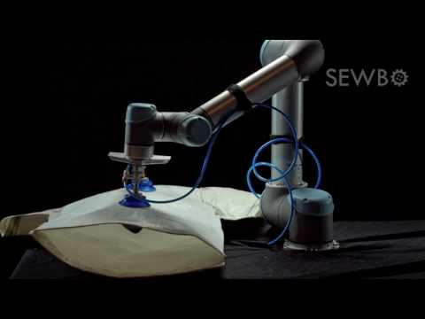 Watch A Robot That Automatically Sews A Shirt Using Stiffened Fabric On Its Own In Action