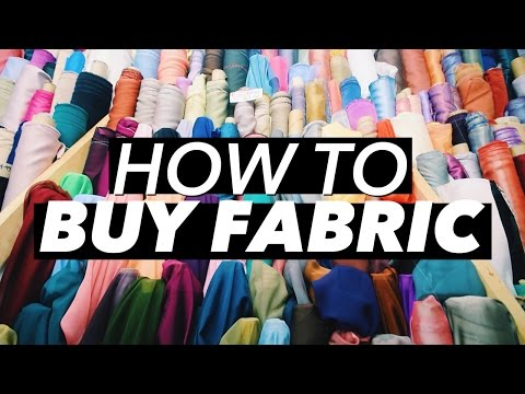 How to Buy Fabric (Terminology & Shopping Tips!)