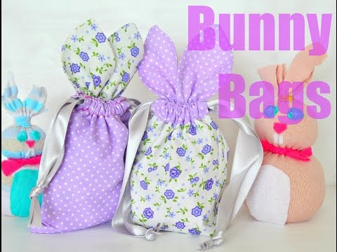 Learn to Sew Drawstring Bunny Bags for Easter Treats