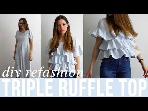 Dress Refashion: Triple Ruffle Top by Cotton and Curls