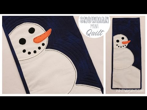 How to Sew a Snowman Mini Quilt - from Whitney Sews