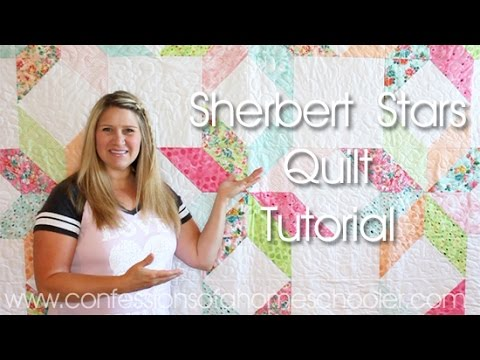 Sherbet Stars - Free Quilting Tutorial from Erica Arndt