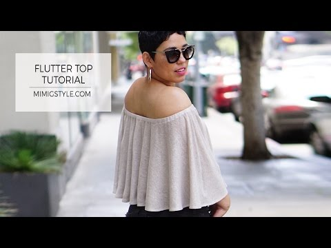 Summer Flutter Blouse Sewing Tutorial from MimiG!
