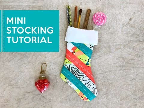 Mini Christmas Stocking Sewing + Quilting Tutorial with Here Comes the Fun