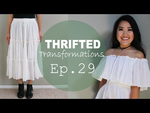 Thrifted Transformations | Skirt to Summer Blouse