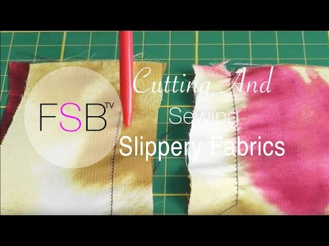 Fabulous Tips for Sewing Slippery Fabric - FashionSewingBlogTV