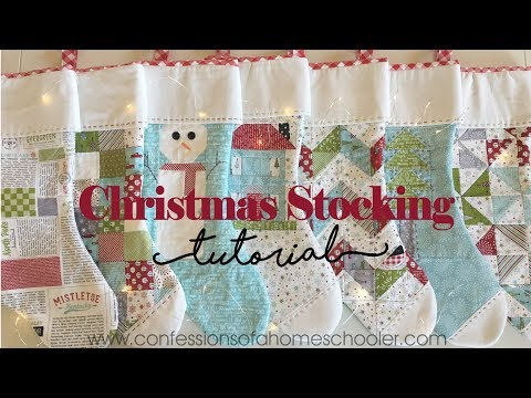 Easy Christmas Stocking Tutorial + Free Template Download from Erica Arndt