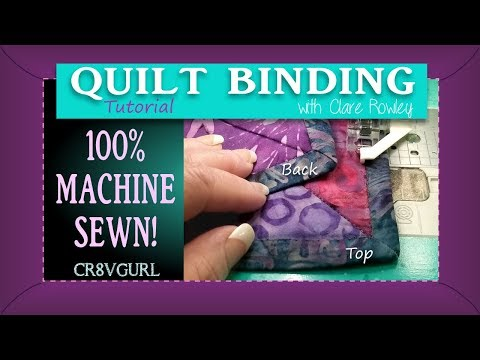 Quilt Binding - Mitered Corners By Machine - Episode 22 -  Fixed Version