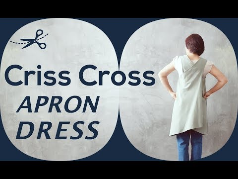 One-Piece Criss Cross Back Apron Dress - Free Sewing Tutorial