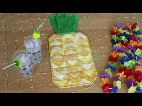 How to Quilt As You Go - Pineapple Chunks Project