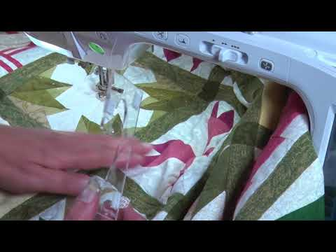 Quilting a large Quilt on a Domestic Machine using templates