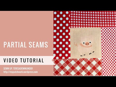 Partial seams video tutorial - Mysteries Down Under quilt - video tutorial