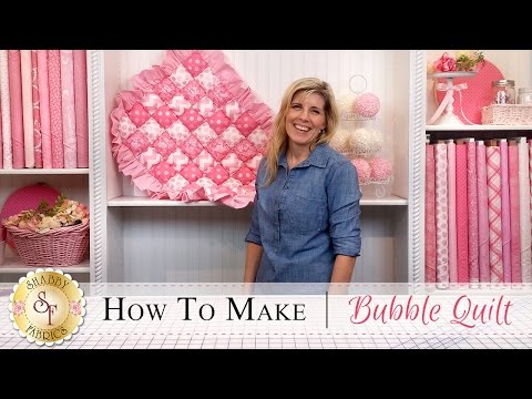 How to Stitch a Bubble Quilt - a Free Quilting Tutorial from Shabby Fabrics