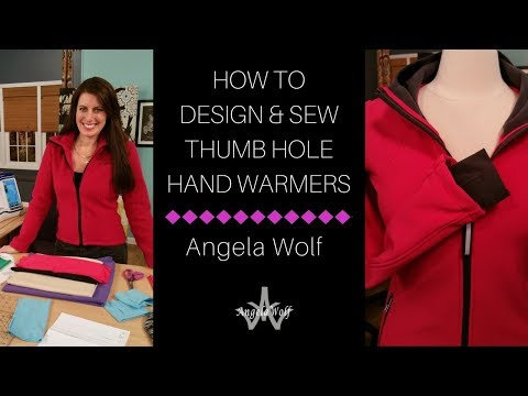 Angela Wolf Shows You How to Sew Hand-warmers for Sportswear
