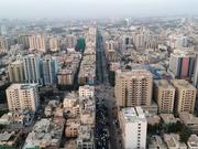 Aerial View of Karachi, Pakistan