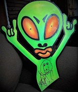 George Clinton Parliament Funkadelic Signed OversizedAlien Artwork