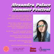 Free workshop Alexandra Palace Summer Festival !