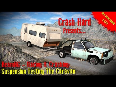 BeamNG - Racing & Crashing: Suspension Testing The Caravan