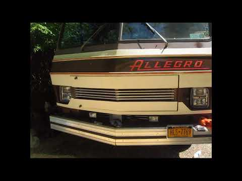Stripping off and installing a New Allegro Logo on my RV