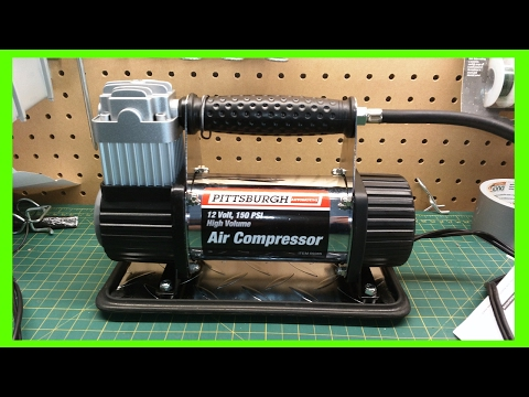 Harbor Freight 12Volt 150PSI High Volume Air Compressor Pump Review (Not the 100PSI model)