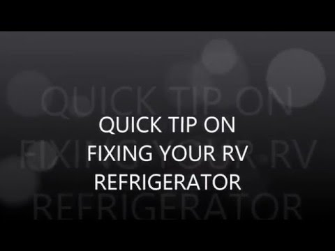 RV REFRIGERATOR  FIX