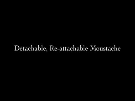Detachable, Re-attachable Moustache