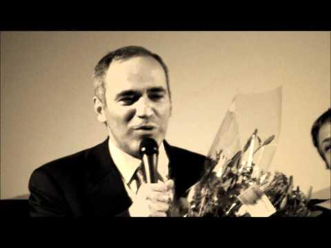 Kasparov in Amsterdam cineast Jos Dinkelaar