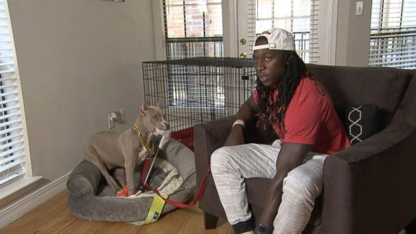 Football star  reuniting with puppy that was kidnapped, held for ransom