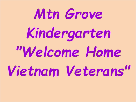 Kindergarten Welcome Home
