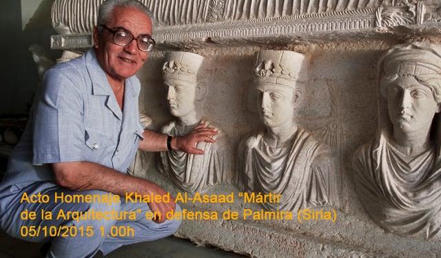 20151005 HOMENAJE A KHALED AL-ASSAD