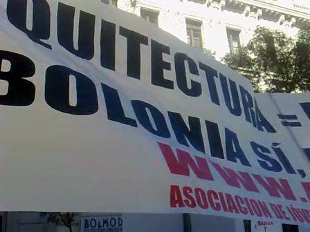 Manifestación Bolonia Arquitectura=Master360