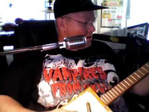 cigar box guitar (Midnite Rider by Greg Allman) with Ice Bob