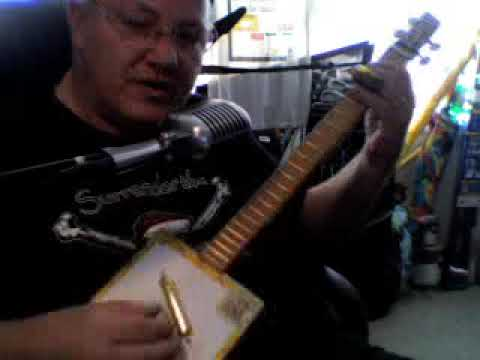 CBG (Grampa Played The Fiddle For Ford By Ice Bob) cigar box guitar
