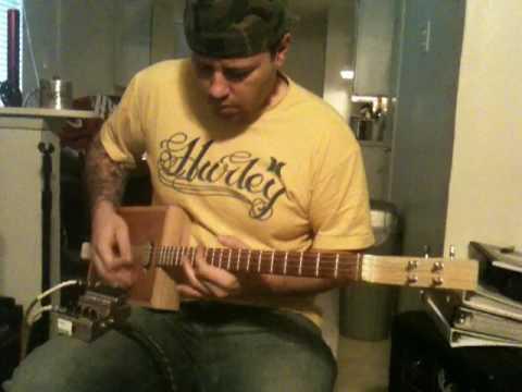 cigarbox guitar shredding