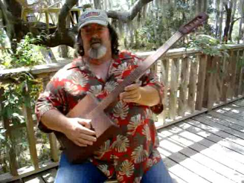 Hamhock on an old Beede cig box banjo.