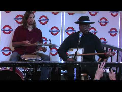 Reverend KM Williams performs at Waterloo Records in Austin, TX