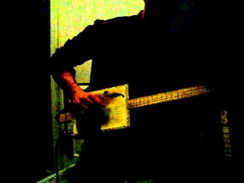 four string reliced macanudo cigar box guitar