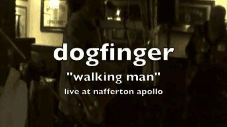 dogfinger walking man