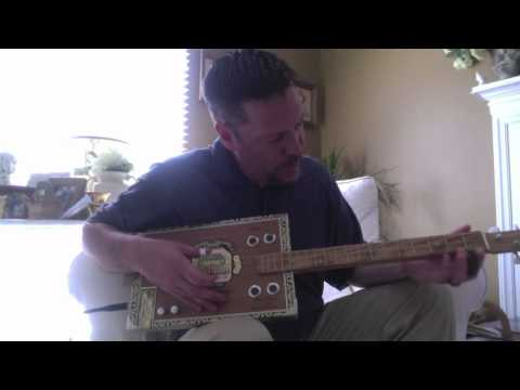 Gut Bucket Guitars - Arturo Fuente Cigar Box Guitar.mov