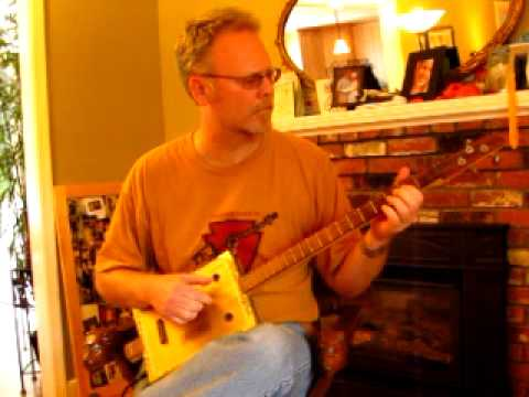 """Bufo Alvarius"" on Cigar Box Guitar"