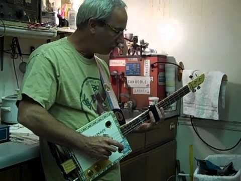 Cigar box guitar demo