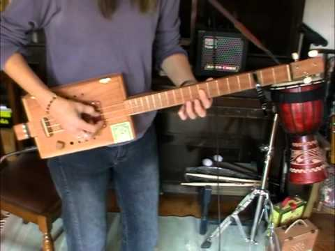"""3 string """"Belinda"""" CBG with Juju pick up (my 1st fretted build!!)"""