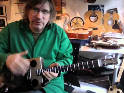 The Pyronator - Hollowbelly's 4 string resonator guitar