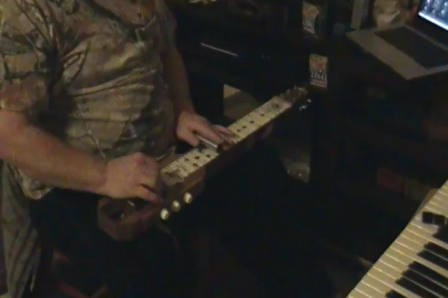 Train Whistle on Homemade Lap Steel