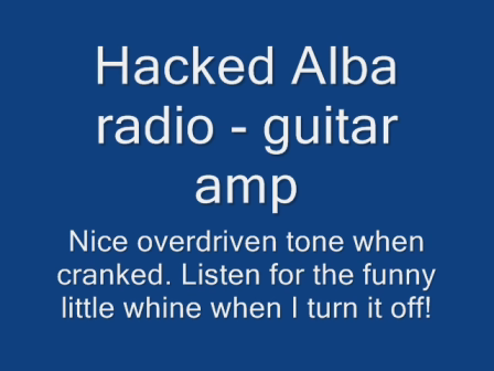 Alba hacked radio - guitar amp
