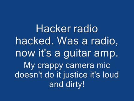 Hacker radio guitar amp