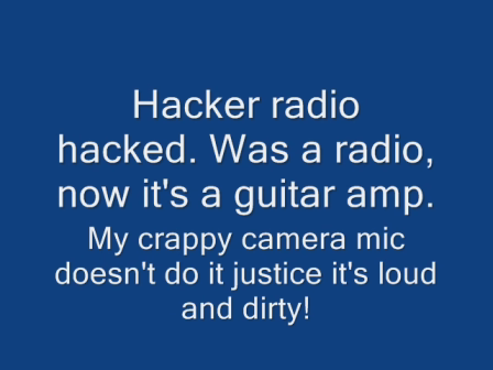 Hacker radio guitar amp