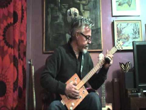 Demo of my 4 string cigar box guitar built by StumbleCol