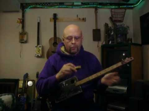 Let Your Light Shine On Me - cigar box guitar tribute to Blind Willie and my Lord Jesus