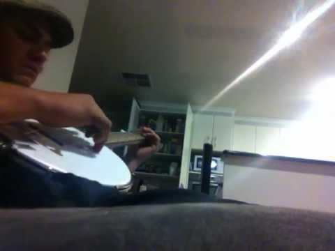Homemade Tambourine banjo